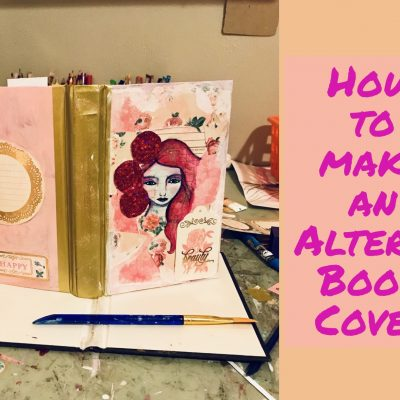 Mixed Media Altered Book Cover