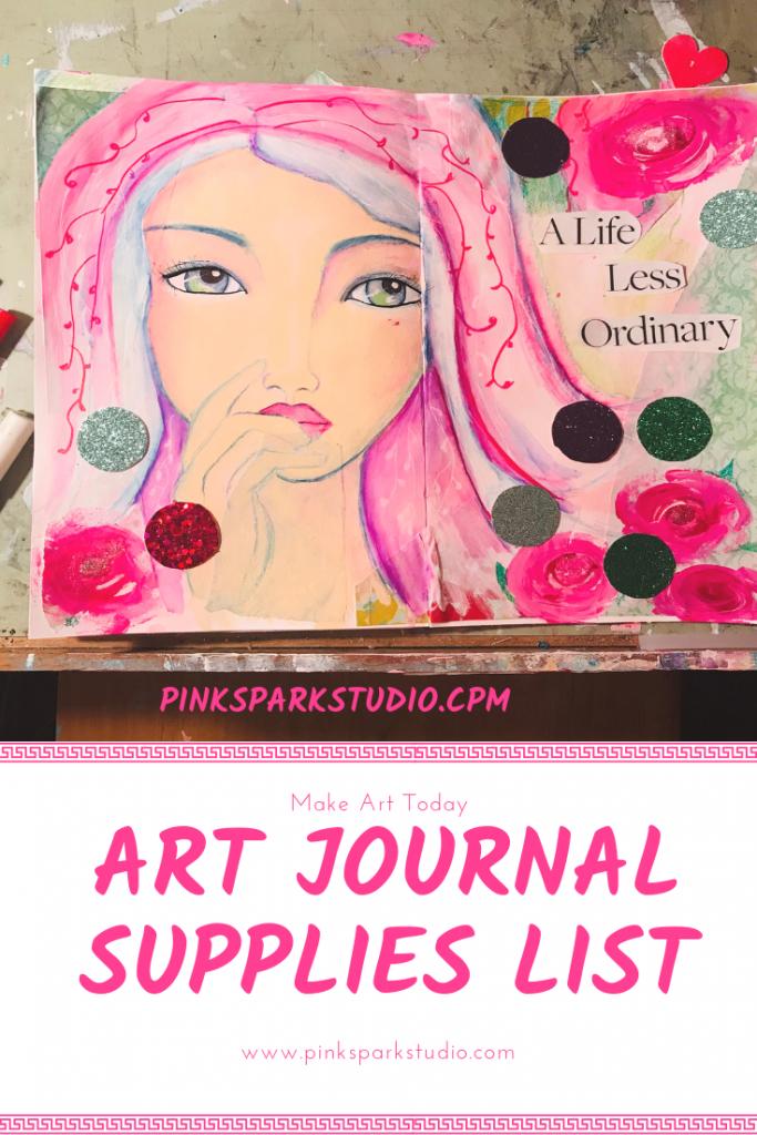 Art journal supplies list