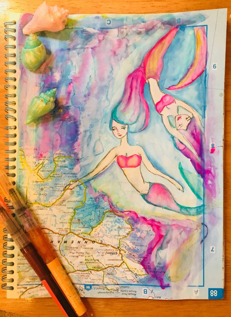 Oceans of color in altered atlas