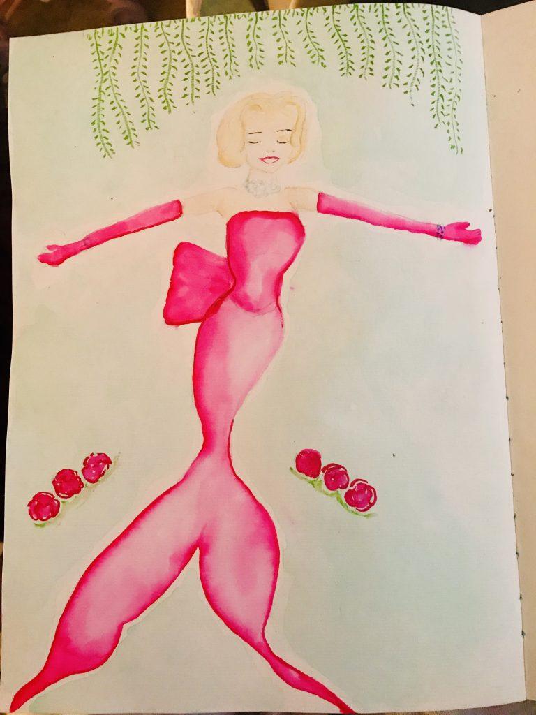 Marilyn Monroe as Lorelei Lee as a mermaid