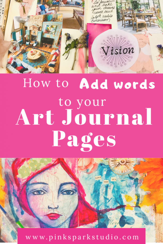 How to add words to your art journal