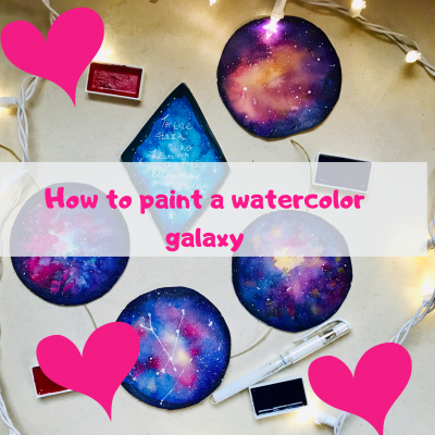 how to paint a watercolor galaxy