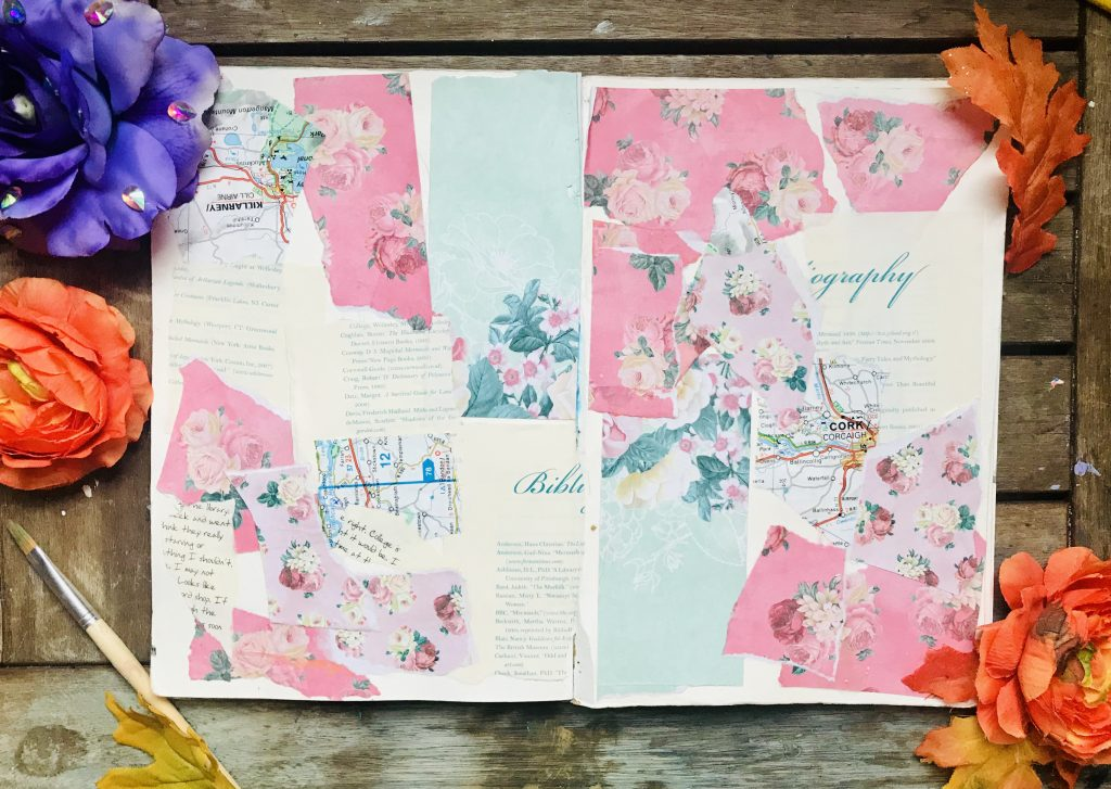 Collage art journal page
