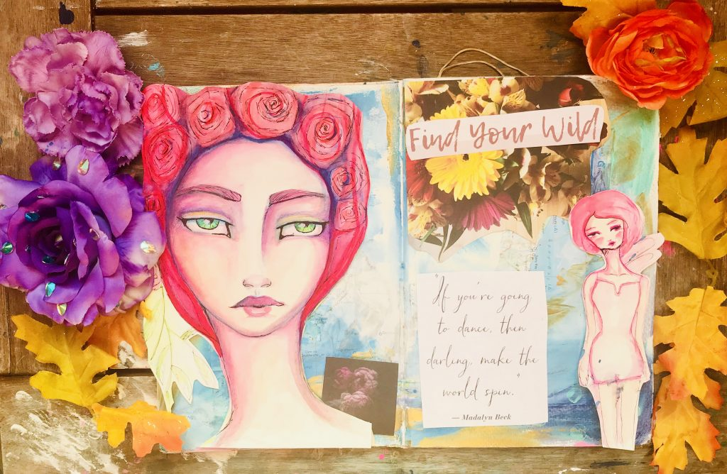 Mixed media collage page