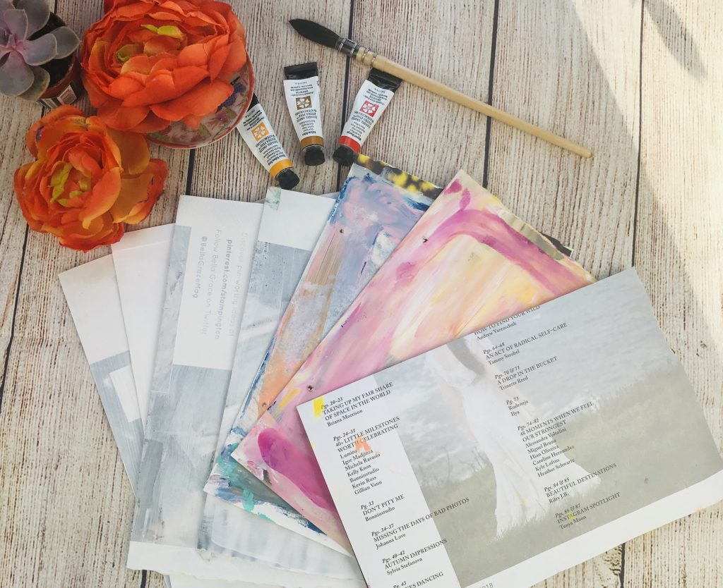 DIY art journal pages painted