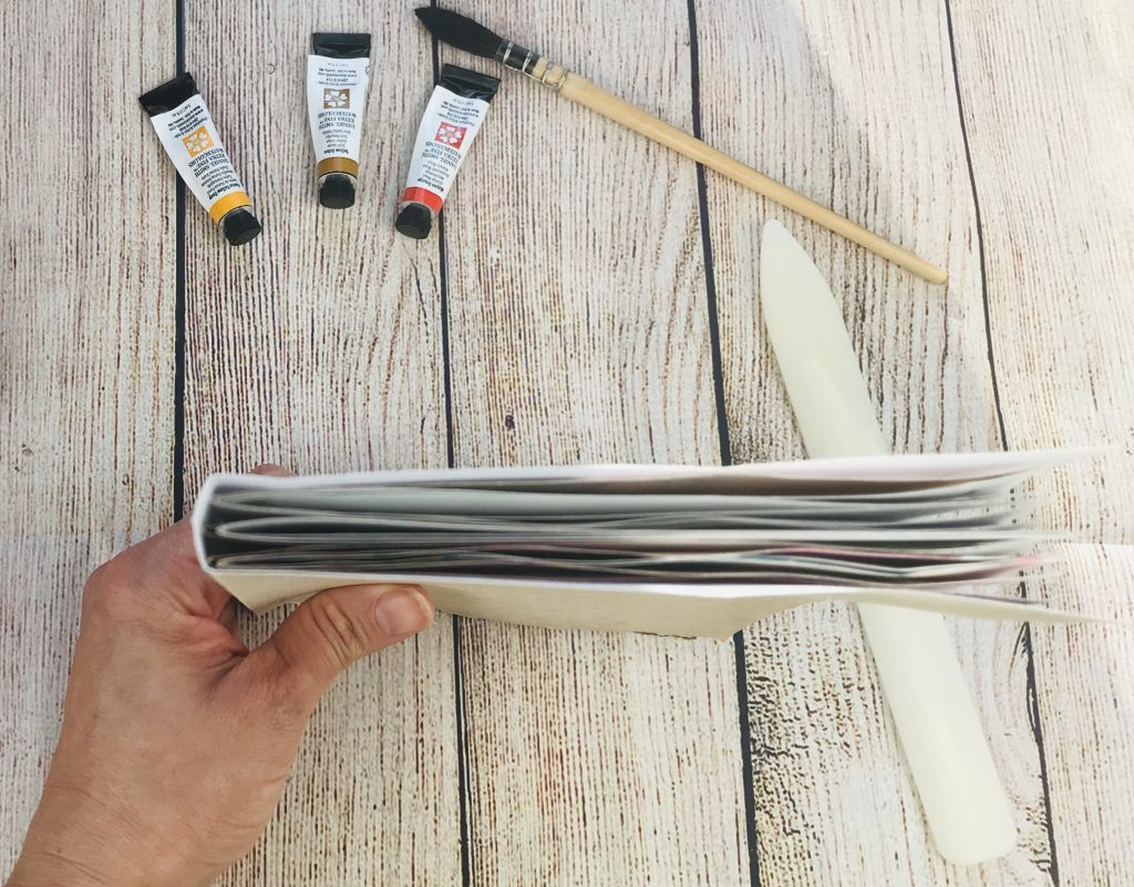 DIY art journal with paper