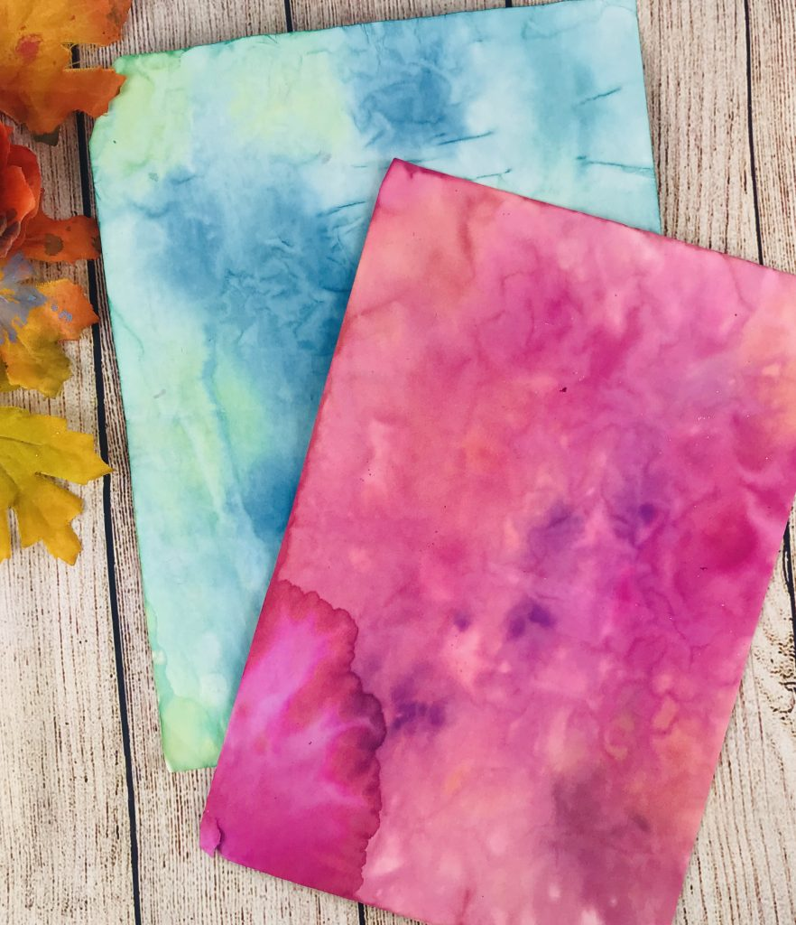 DIY collage paper with ink
