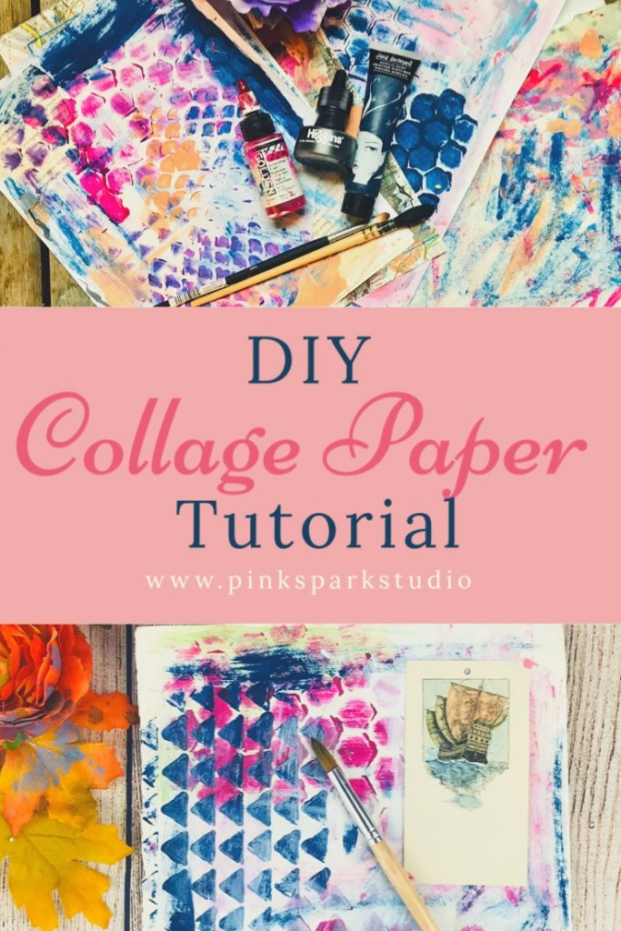 Make your own collage paper