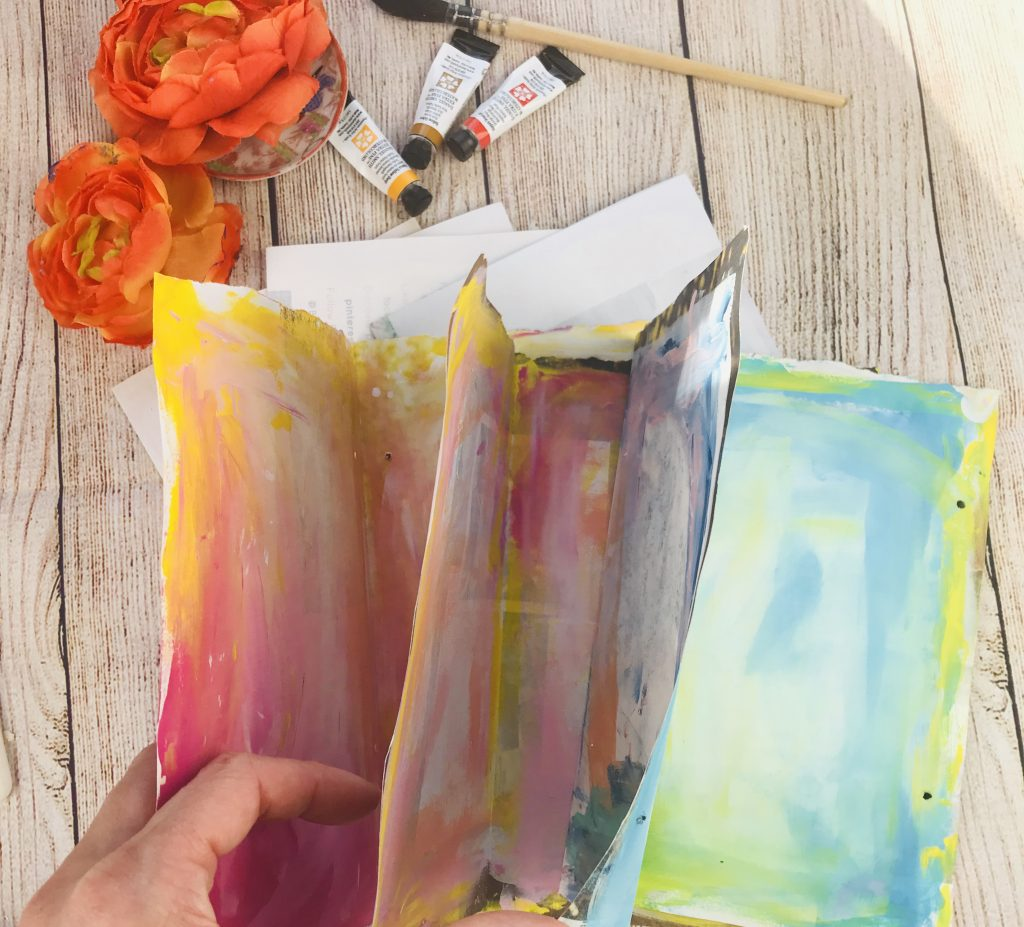 DIY art journal pages