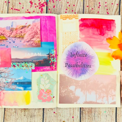 Create your own Fairytale Vision Board in your Art Journal