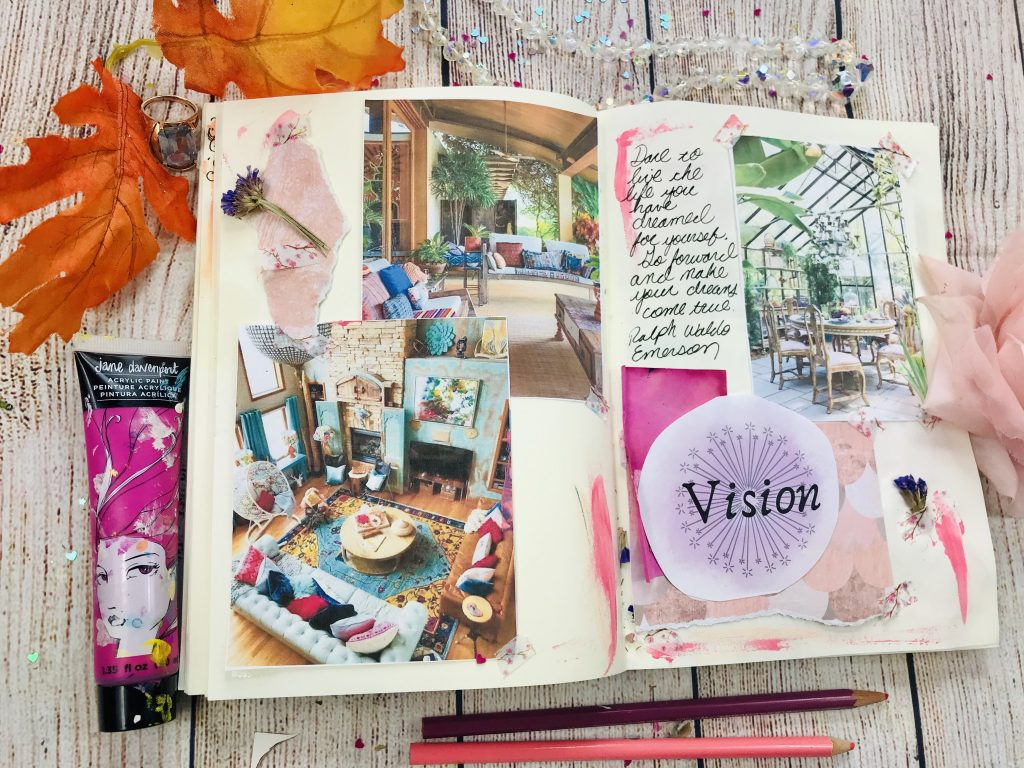 How to create a vision board in your art journal