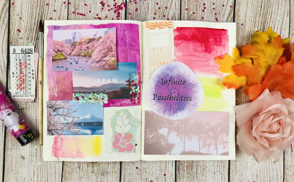 Vision board in your art journal