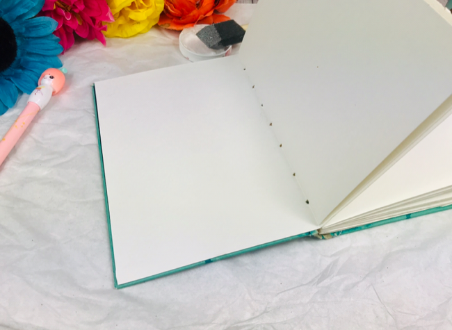 Diy handmade watercolor journal