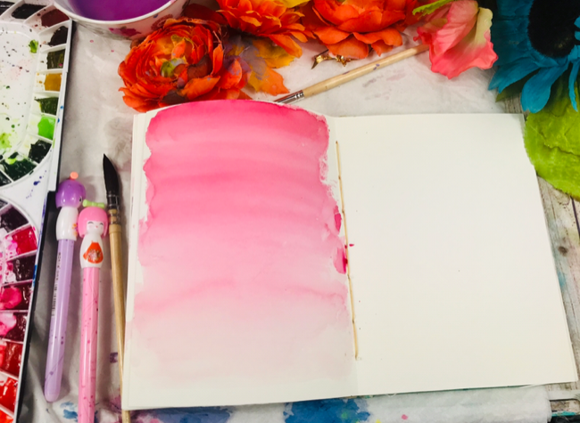 Watercolor gradient wash background